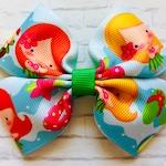 Hawaii hair bow, hawaii bow, summer hair bow, summer bow, tropical hair bow, tropical bow, hula hair bow, hula bow, girls hair bows