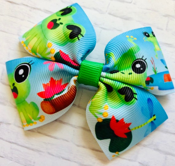 "NEW /""DRAGONFLY/"" Girls Ribbon Hairbow Clip Bow Boutique Spring Summer Boutique"