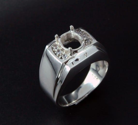 925 Sterling Silver Bracelet Stone Size 2 mm Round Semi Mount Setting Women