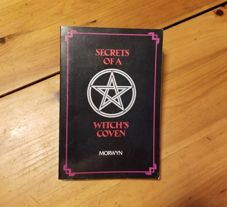 Secrets of a Witch's Coven Book, Occult Book, Spell & Enchantment Book,  Witchcraft Guide