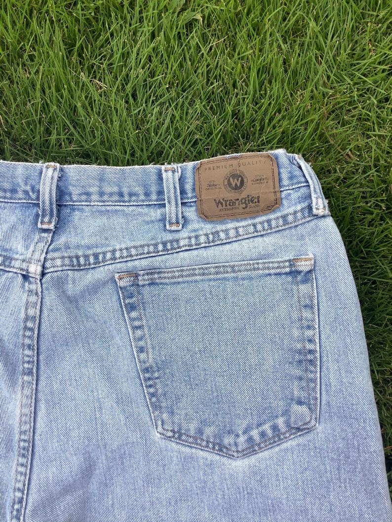 Hand Painted Star Fringe Bottomed Wrangler Jeans 40 inch waist