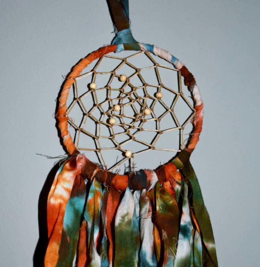 orange tie dye dreamcatcher. Black Bedroom Furniture Sets. Home Design Ideas
