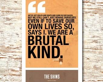 "The Shins- Lyric Quote 11x17"""