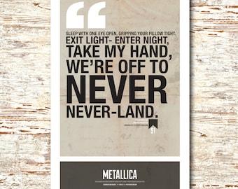 "Metallica- Lyric Quote 11x17"""