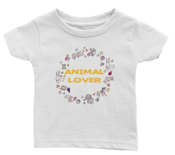 Animal Lover infant cotton tee