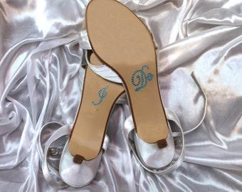 Wedding Shoe Stickers I DO, Something Blue, Crystal Rhinestone, Bridal Shower Gift, Bachelorette Party, Engagement, Free Shipping