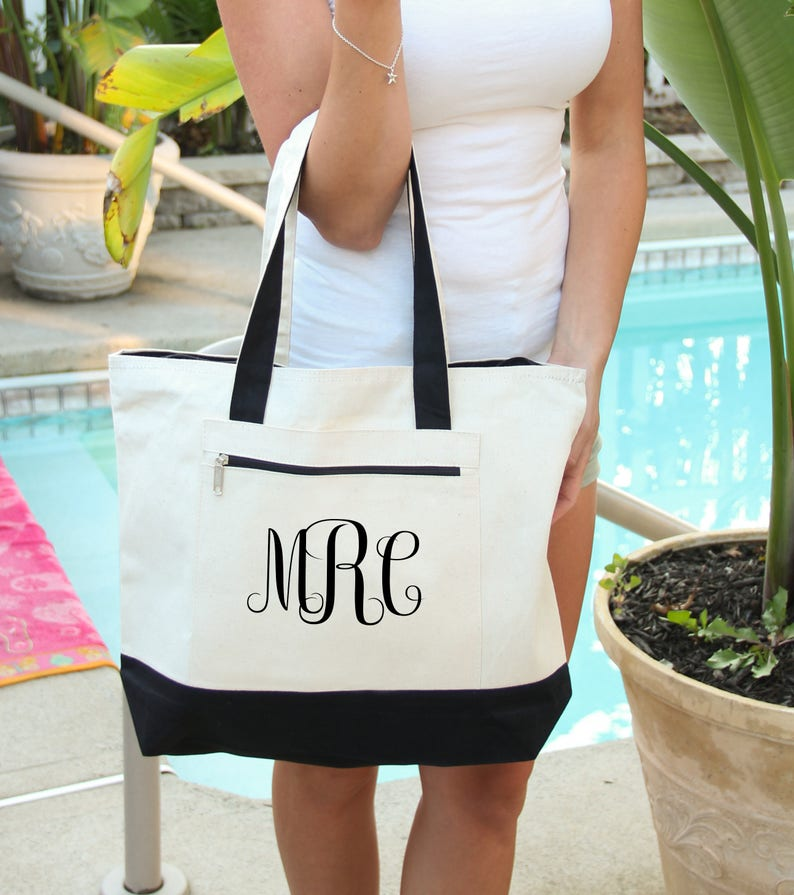 Monogram  Bag Heavy tote bag  zippered main compartment image 0