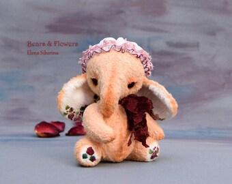 OOAK, Artist teddy elephant. Elin.