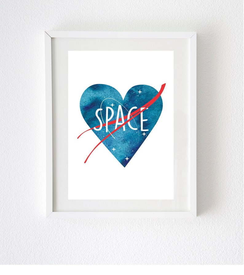 photograph regarding Printable Nasa Logo referred to as Printable Engineer Artwork Print // NASA artwork - watercolor place artwork - engineer presents - astronomy card - nerdy artwork - nerdy items - location artwork