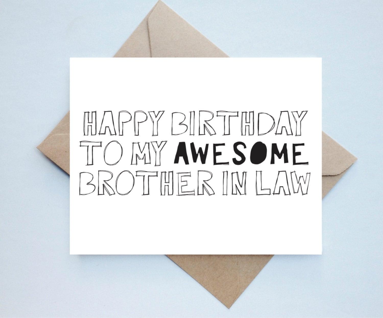 Brother In Law Birthday Card Bro