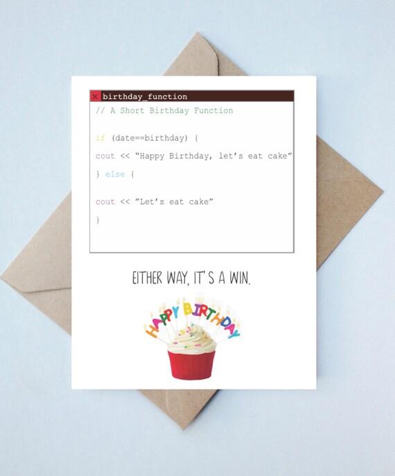 Handmade Engineer Card Funny Birthday Software