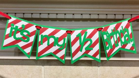 Its My 1 2 Birthday Banner Half Boy Decorations Photo Prop