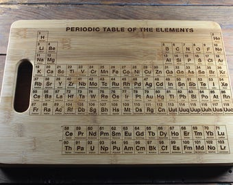 Chemistry gift etsy personalized cutting board periodic table cutting board engraved gifts periodic table decor science gift science decor chemistry gift urtaz Choice Image