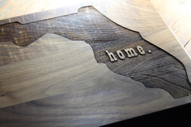 Going Away Gift States of Love Personalized Home State Cutting Board Home State Decor State Cutting Board State Designs Moving Gift