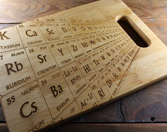 Personalized Cutting Board, Periodic Table Cutting Board, Periodic Table of Elements, Periodic Table Decor, Science Gift, Science Art