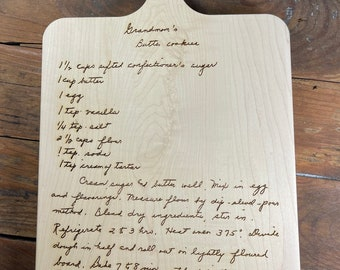 Original Copy Handwritten Family Recipe Engraved, Meal Preparation Instructions, Ingredients, Directions, Passed Down, Supper Prep, Nanas