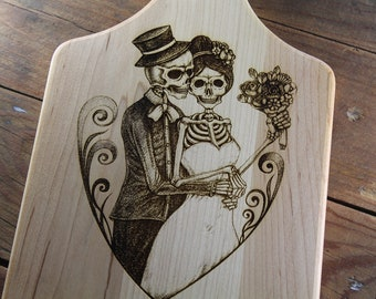 Personalized Love After Death Skeleton Couple Wedding Gift, Engagement, Until Death Do Us Part, Till Death, Forever Together, Newly Weds