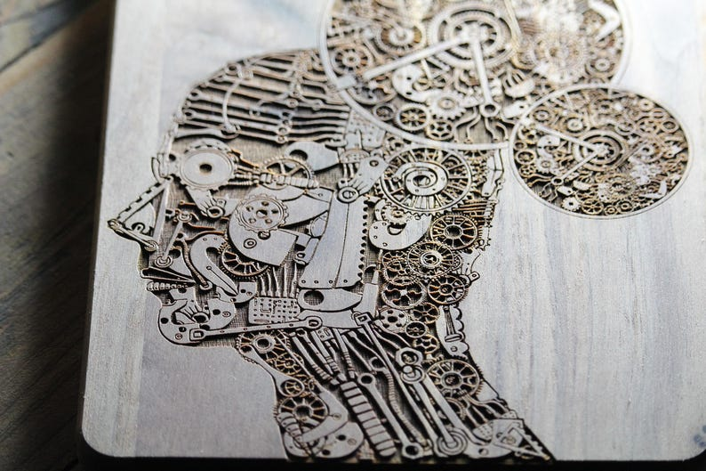 Personalized Cutting Board, Psychologist Office Decor, Artificial  Intelligence, Steampunk Kitchen, Psychology, Gift For Chef, Gift ideas