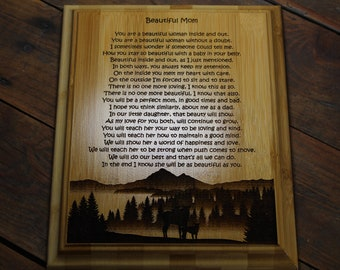 Personalized Beautiful Mom Poem Plaque, Expecting Mother, Future Mother, Pregnancy Gift, From Dad to Mom, Future Dad, Mothers Day, Newborn