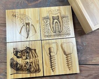 Mixed Vintage Dental Coasters, Pediatric Dentist, Dentist Gift, Dentist Office, Dental Hygienist, Dental Assistant, Student, Orthodontist