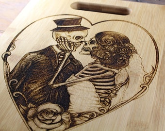 Personalized Love Eternal Skeleton Couple Wedding Gift, Engagement, Until Death Do Us Part, Till Death, Forever Together, Newly Weds, Always