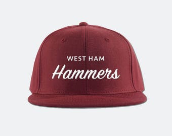 West Ham United FC Snapback Hat - Premier League soccer football snapback  hat e5450899ad19