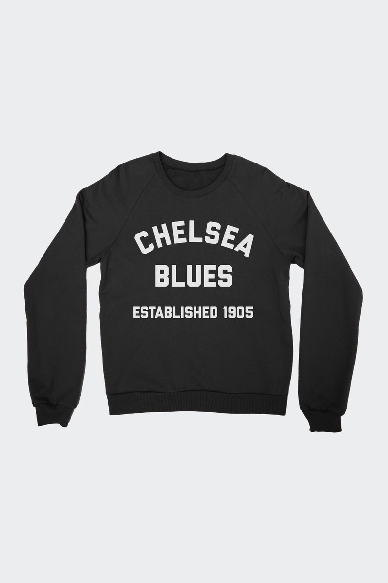 official photos b89da e84ff Chelsea FC Blues Men's Raglan Sweatshirt Unisex Premier League Soccer Fan  Gift