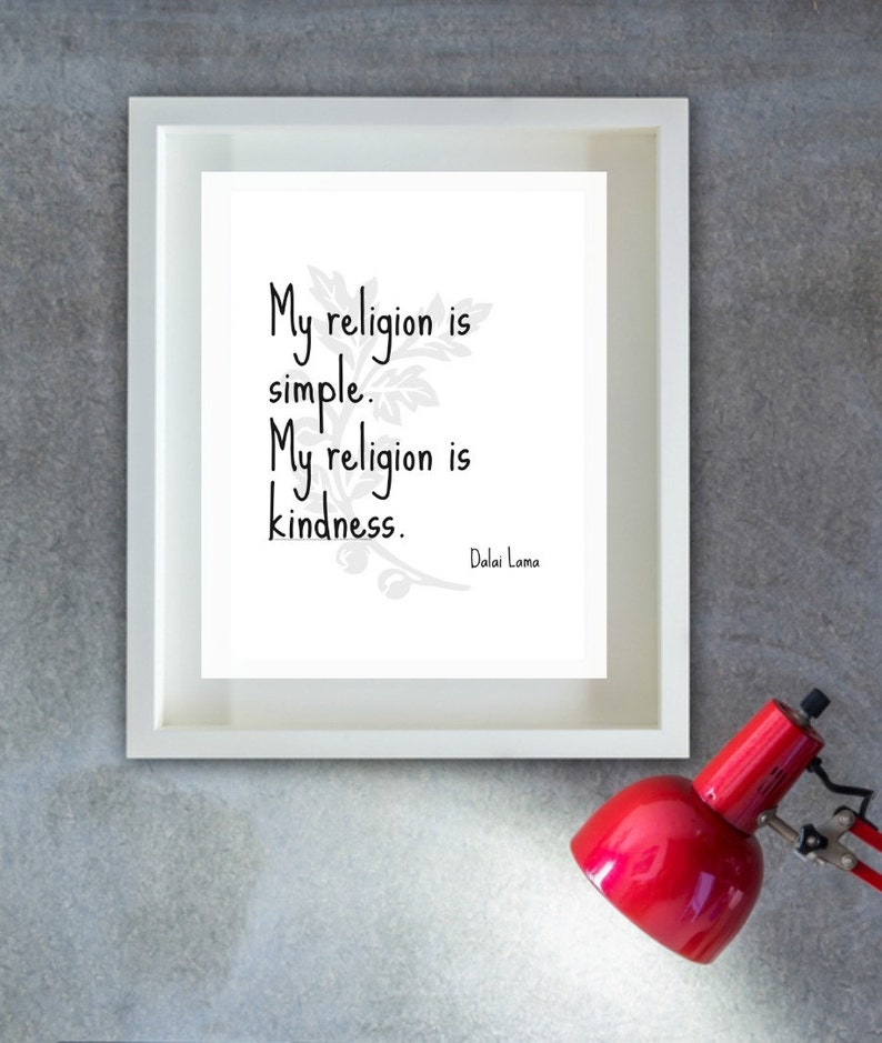 Dalai Lama Quote Words of Wisdom Instant Download Wall Art ...