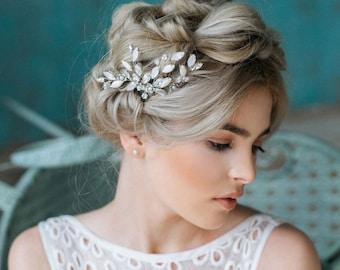 Bridal Headpiece, Wedding Hairpiece, Rhinestone Hair Comb, Hair Piece, Wedding Hair Accessories, Wedding Hair Comb, Crystal Hair Comb- DORIS