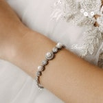 Wedding bracelet pearl, bridal bracelet crystal. Wedding silver bracelet, Wedding Jewelry Sets, Bridesmaid bracelet Bracelet for bride Earla
