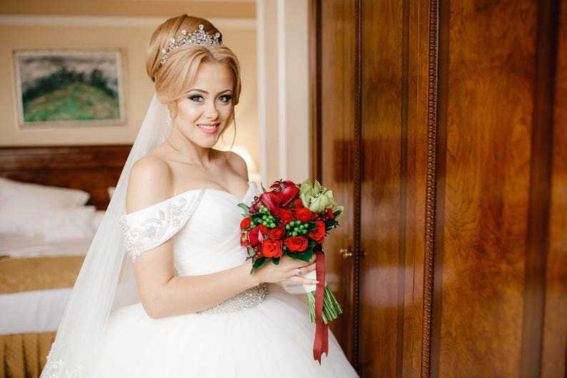 Wedding Crown Bridal Tiara Bridal Diadem Crystal Bridal image 0