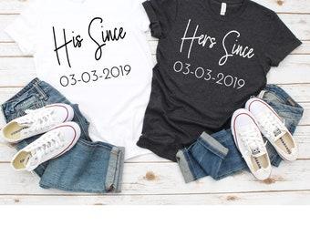 4e36c0a1765 couples shirts-couple shirts-wedding shirts-couple t shirts-engagement  shirts-his and hers-anniversary shirts- shirts for couples