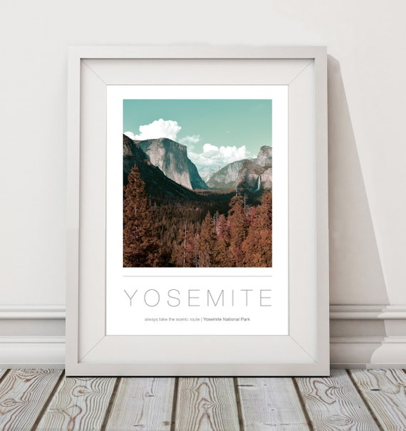 Yosemite National Park A3 A2 Poster Wall Art Etsy