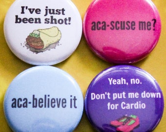 "Pitch Perfect Set of 4 - 1"" Pinback Buttons"