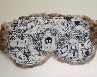 Minky Sleep Mask, Minky Eye Mask, Cotton with Minky Sleep Mask Gift