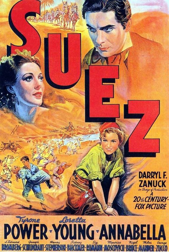 Suez 1938 Tyrone Power | Etsy