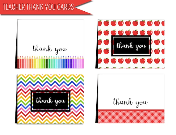 image relating to Printable Teacher Thank You Cards known as Trainer card printable: \
