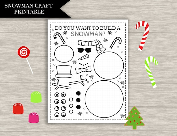 Snowman Craft Printable  CHRISTMAS CRAFTS kids