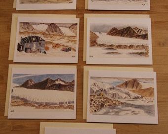 Antarctic Landscape Notecards