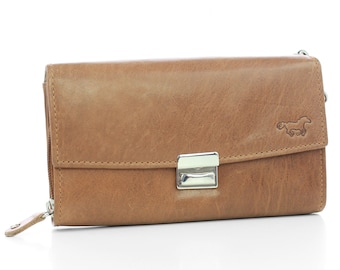 KC,s Leather Craft Billfold Stamp//w Silver Concho Color Brown Handmade in Japan