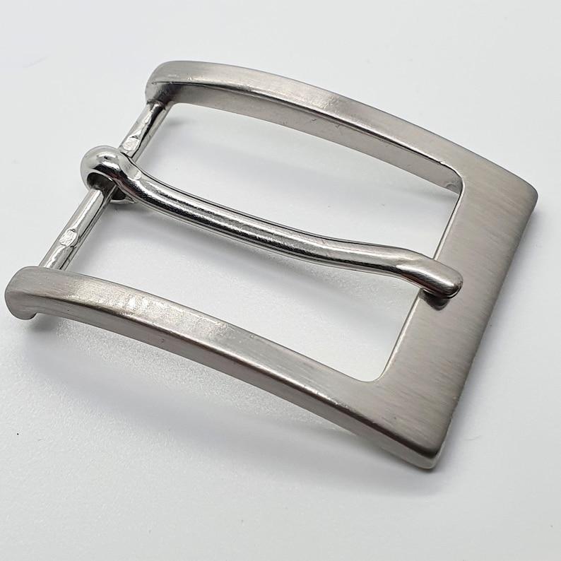 Silver Matt Belt buckle 3 width sizes 2 Pieces Loose Buckle