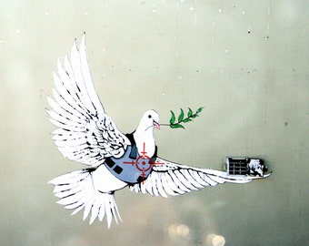 Banksy Street Art The Pigeon Poster In Different Sizes A0 A1 A2 A3 A4 A5 A6