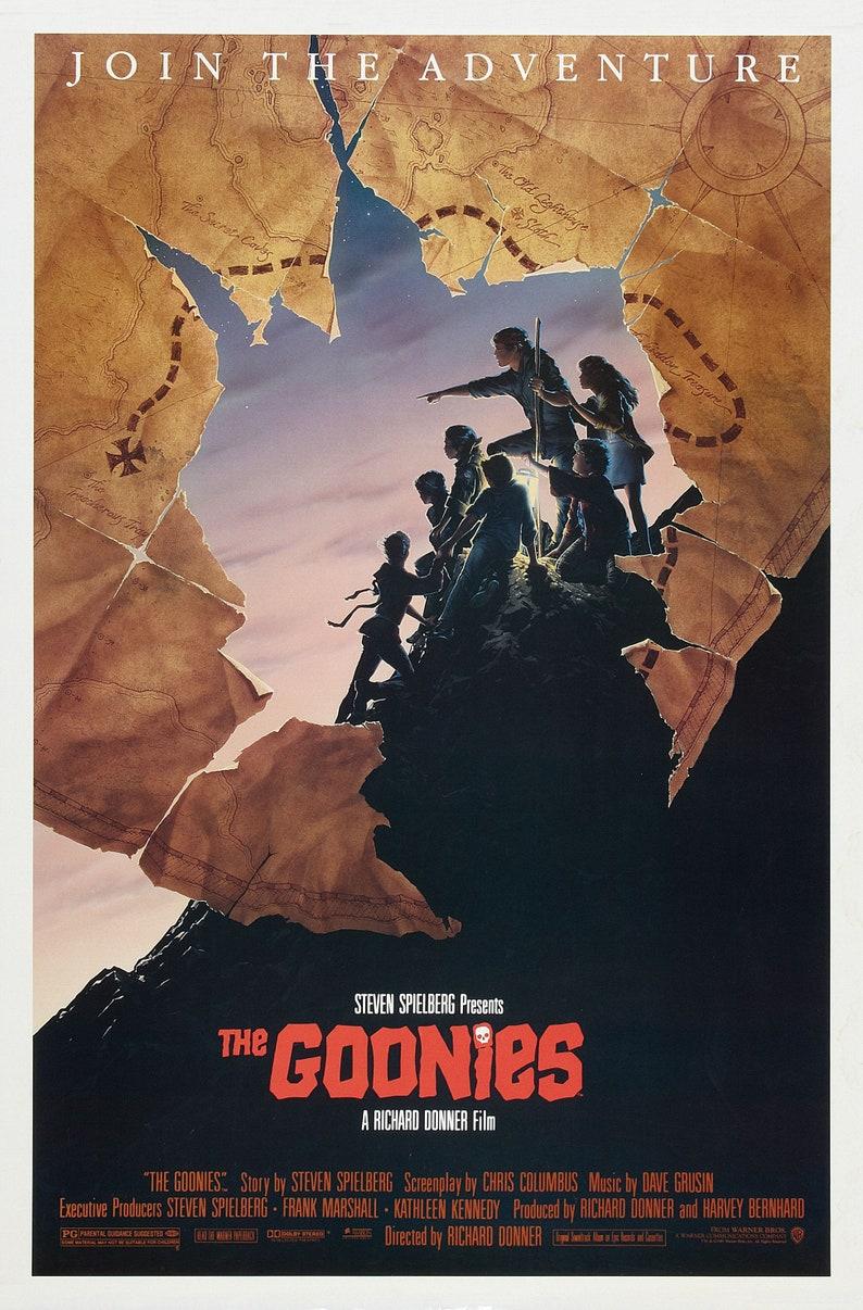 The Goonies Map Poster Art Print A0 A1 A2 A3 A4 Maxi