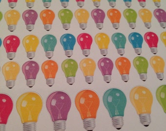 Light bulb stickers -  for your EC, PP, planner