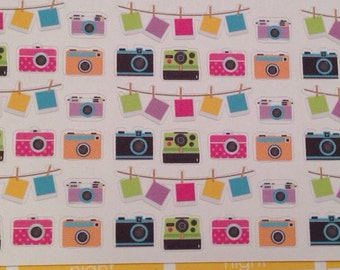 Camera photography stickers -  for your EC planner