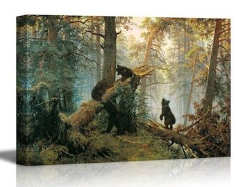 Poster Wall Art Pine Forest Art//Canvas Print Home Decor