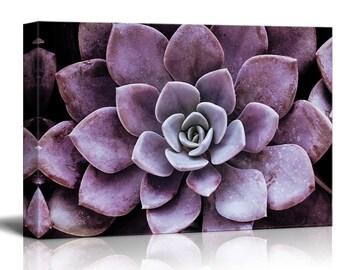 Yatehui Succulent Plants Wall Art Simple Life Canvas Giclee Prints 4 Pieces Leaf
