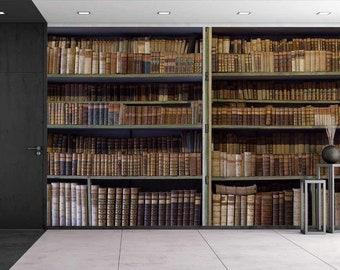 Library Wallpaper Etsy