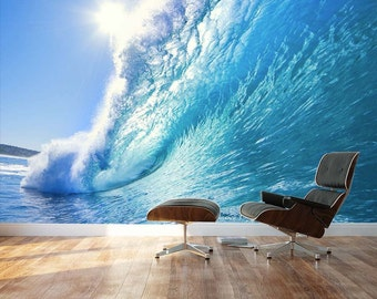 Ocean Wave And Dream Surfing Destination Wall Mural Removable Sticker