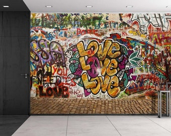 Graffiti Wallpaper Etsy